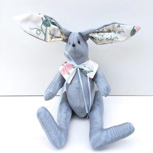 Vintage Crafty Lady Pale Blue Big Ear Bunny Rabbit